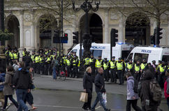 Dimostrazione a Londra Fotografie Stock Libere da Diritti