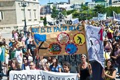 Dimostrazione a Madrid Fotografia Stock