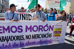 Dimostrazione a Marchena Siviglia 5 Fotografia Stock Libera da Diritti