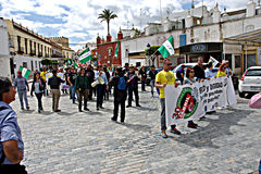 Dimostrazione a Marchena Siviglia 7 Fotografia Stock