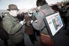 Dimostrazione Milano Palasharp il 5 febbraio 2011 Fotografie Stock Libere da Diritti