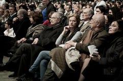 Dimostrazione Milano Palasharp il 5 febbraio 2011 Immagini Stock
