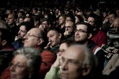 Dimostrazione Milano Palasharp il 5 febbraio 2011 Immagini Stock Libere da Diritti