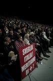 Dimostrazione Milano Palasharp il 5 febbraio 2011 Immagine Stock