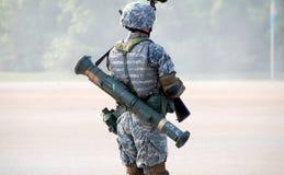 Dimostrazione militare   fotografia stock