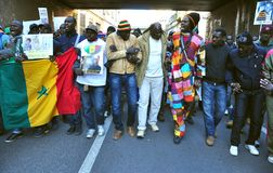 Dimostrazione nazionale contro razzismo in Italia Fotografia Stock Libera da Diritti