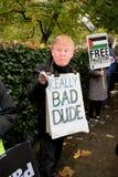 Dimostrazione nazionale: La giustizia ora la fa radrizzare per la Palestina Londra Immagine Stock Libera da Diritti