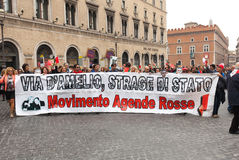 Dimostrazione nazionale a sostegno di Nino Di Matteo Immagine Stock Libera da Diritti