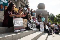 Dimostrazione pacifica dei sognatori Immagini Stock