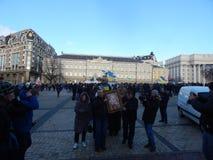 Dimostrazione pacifica a Kiev Immagini Stock