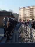 Dimostrazione pacifica a Kiev Fotografia Stock