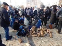 Dimostrazione pacifica a Kiev Immagine Stock