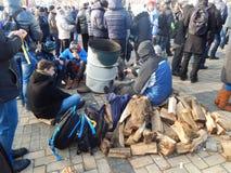 Dimostrazione pacifica a Kiev Immagine Stock Libera da Diritti