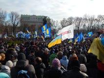 Dimostrazione pacifica a Kiev Fotografie Stock