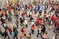 Dimostrazione in via di Montreal fotografie stock libere da diritti