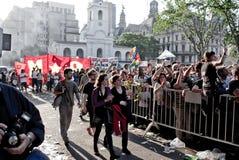Dimostrazioni a Buenos Aires Immagine Stock Libera da Diritti