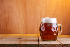 Dimpled beer mug Stock Photography