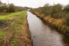 Dimsdale-Abwasserkanal, gerader Mann machte Abzugsgraben Lizenzfreie Stockfotografie
