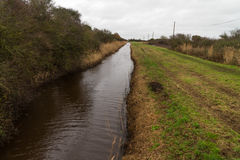 Dimsdale-Abwasserkanal, gerader Mann machte Abzugsgraben Lizenzfreies Stockfoto