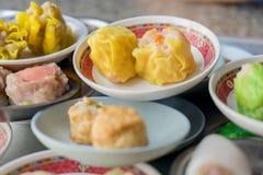 Dimsum作为快餐或开胃菜早餐 库存图片