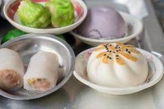 Dimsum作为快餐或开胃菜早餐 免版税库存照片