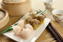 中国dimsum食物 库存照片