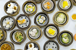 Dimsum chinese food on restaurant Stock Image