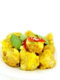 Dimsum cocido al vapor chino de la bola de masa hervida con el chile Fotografía de archivo
