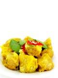 Dimsum cocido al vapor chino de la bola de masa hervida con el chile Imágenes de archivo libres de regalías