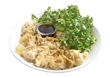 Dimsum cuit à la vapeur délicieux inséré avec du porc coupé, poulet, vege images libres de droits