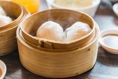 Dimsum del gamberetto cotto a vapore cinese Fotografia Stock