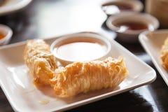 Dimsum del gamberetto fritto cinese Immagine Stock
