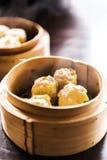 Dimsum del gamberetto fritto cinese Fotografia Stock Libera da Diritti