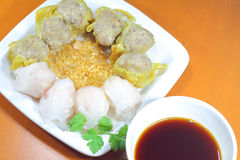 Dimsum hakau with chinese black vinegar sauce Stock Image