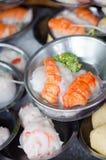 Dimsum kinesisk mat på restaurang Arkivbilder