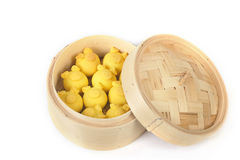Dimsum in the steam basket Royalty Free Stock Image