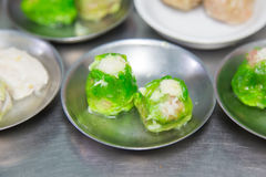 Dimsum in steel plate, chinese food Stock Images