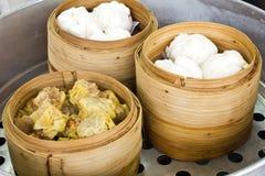 Dimsum tratado con vapor chino Imagen de archivo