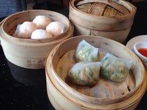 Dimsum, voedsel, Chinees voedsel, restaurant Stock Afbeeldingen