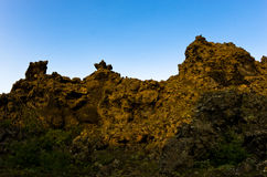 Dimuborgir unusually shaped lava formations near lake Myvatn Stock Photos