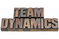 Dinámica del equipo en el tipo de madera imagen de archivo