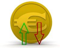 Dinámica del EURO ilustración del vector