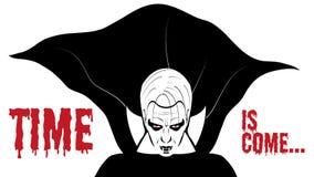 Dinámico negro y blanco de Drácula libre illustration
