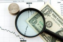 Dinâmica das taxas de câmbio Imagem de Stock