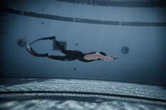 Dinâmico com desempenho das aletas (DYN) do Underwater Foto de Stock