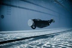 Dinâmico sem desempenho das aletas (DNF) do Underwater Foto de Stock Royalty Free