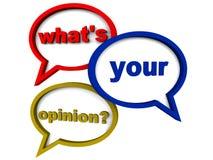 Din åsikt Fotografering för Bildbyråer