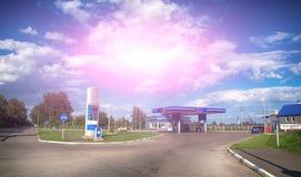 din bilmatningsbensinstation Royaltyfria Foton