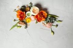 din blom- illustration för kortdesign Arkivbilder
