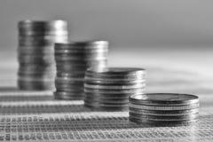 din byggande finansiell framtid Arkivbild